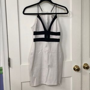 Black & white strappy dress